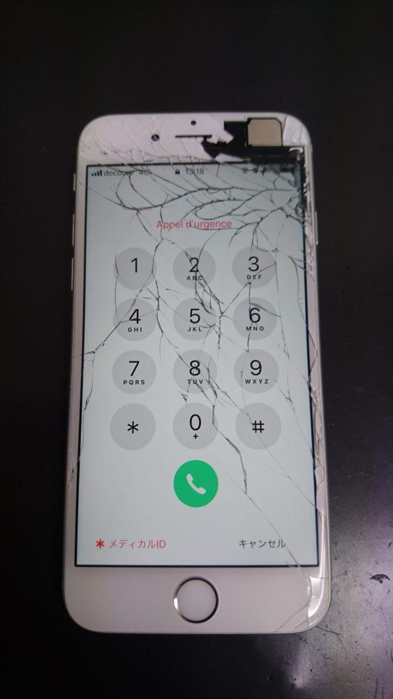 修理前のiPhone6sの画像