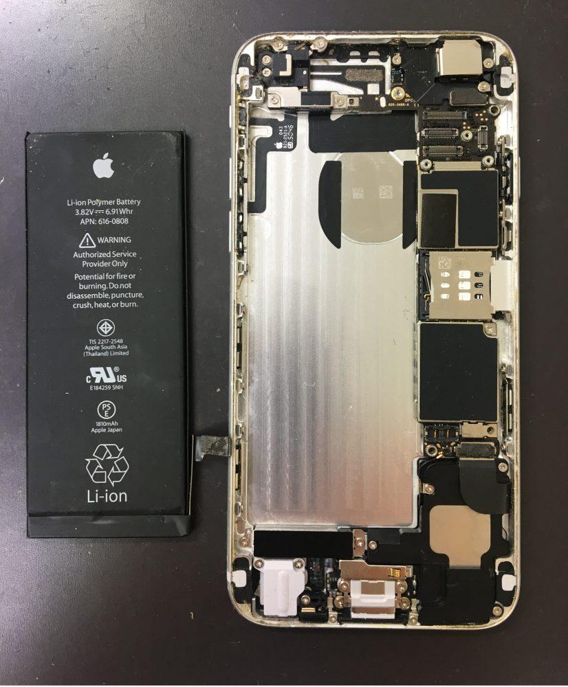 iPhone6画面修理過程
