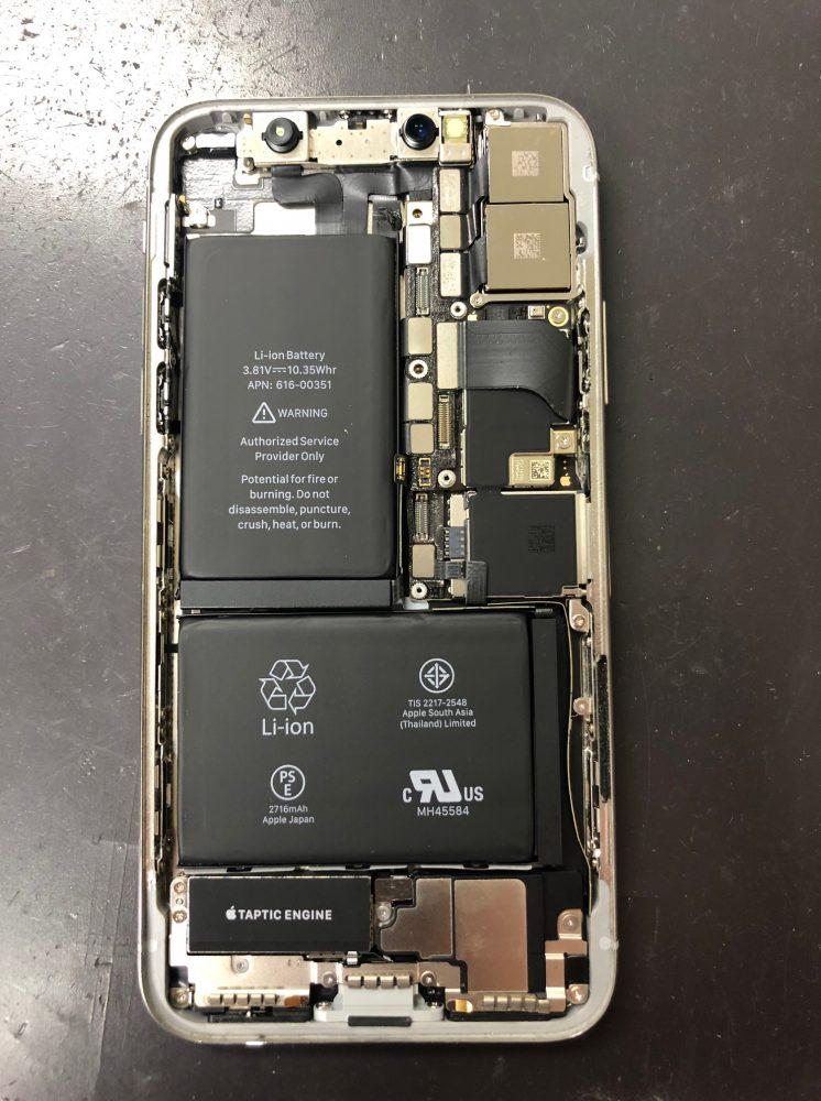 iPhoneXカメラ交換前