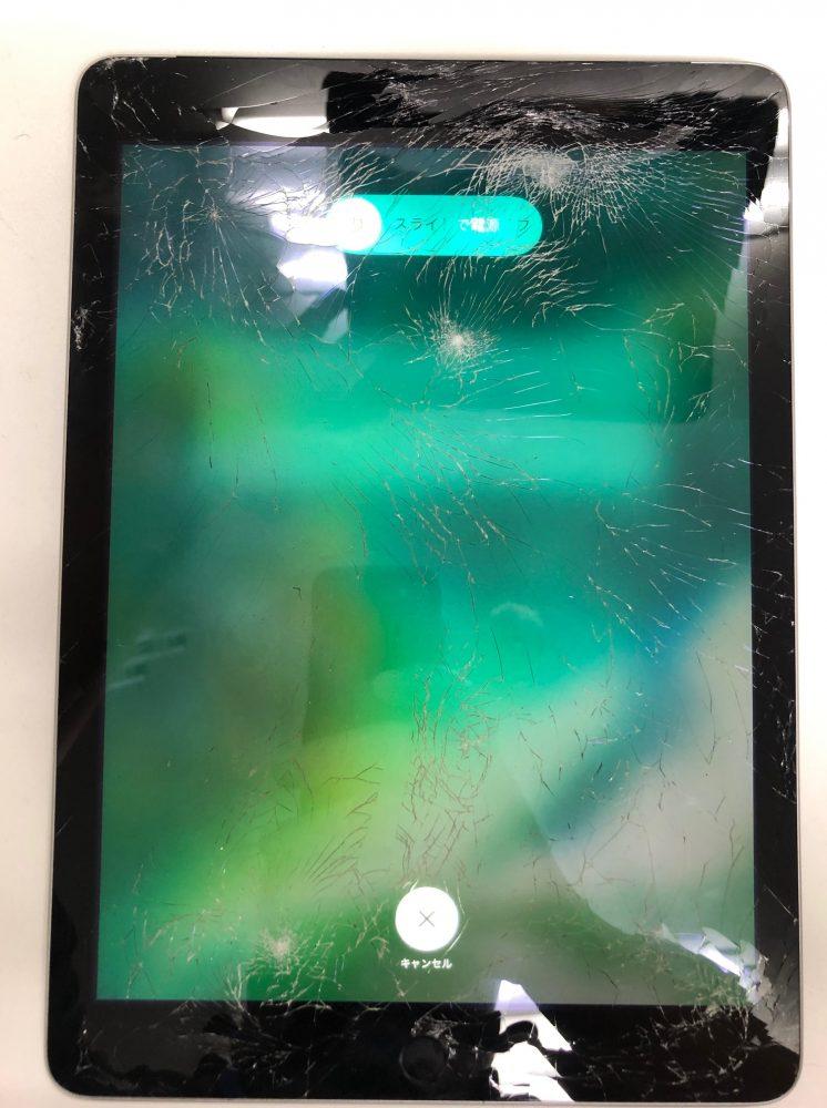 iPad5 ガラス修理前