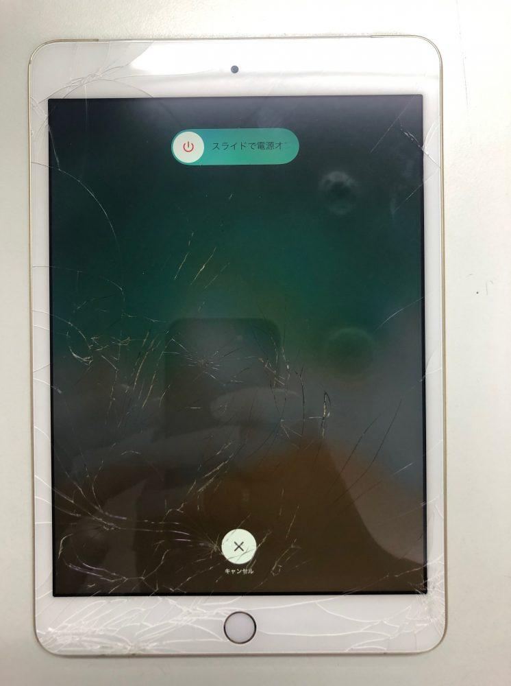 iPad ガラス修理前