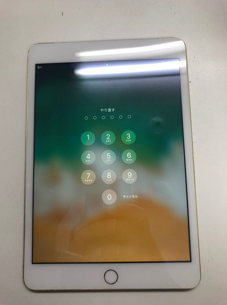 iPad ガラス修理後