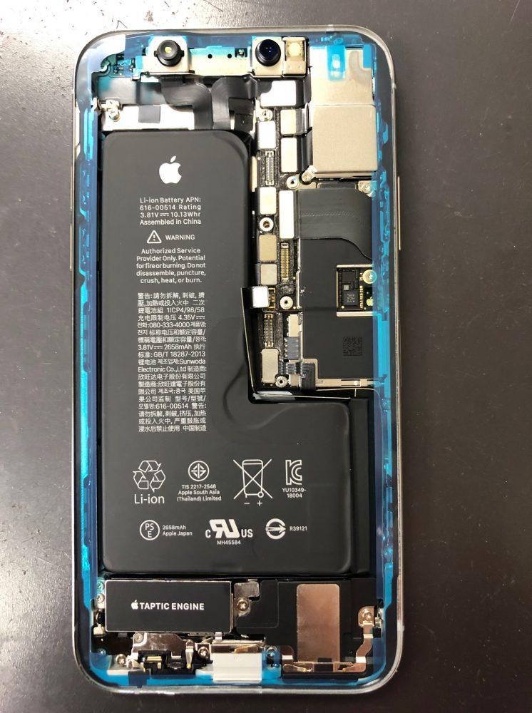 iPhoneXs耐水シール
