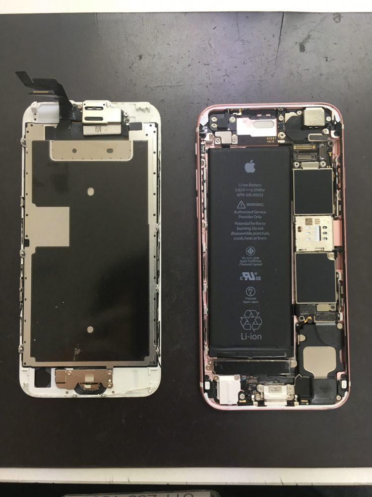 iPhoneSE 修理 内部