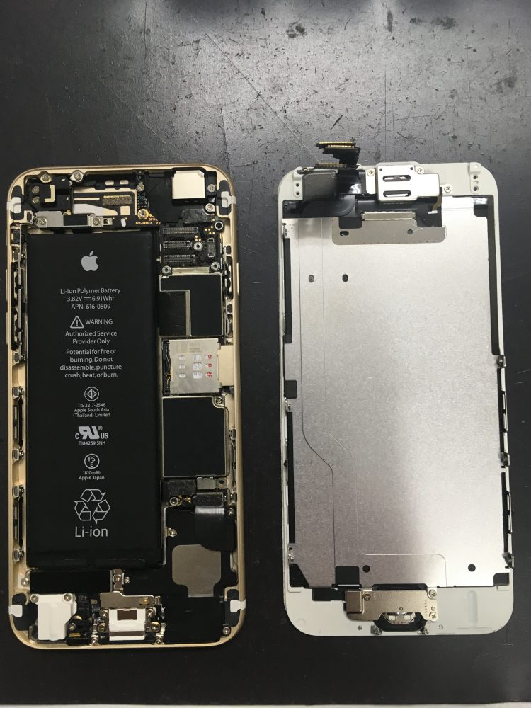iPhone 内部 バッテリー交換