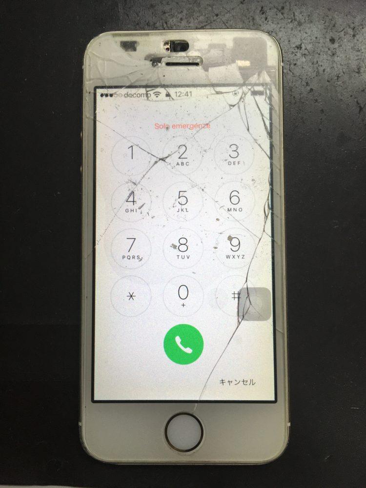 iPhoneSE 画面割れ ヒビ