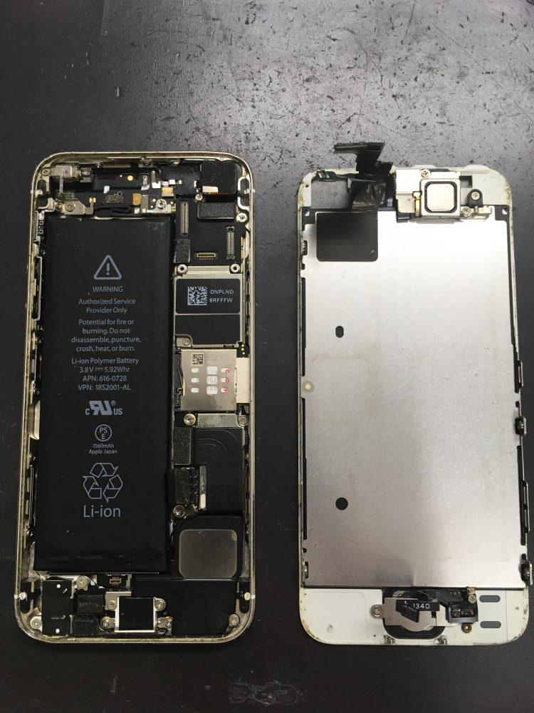 iPhoneSE 画面交換 内部