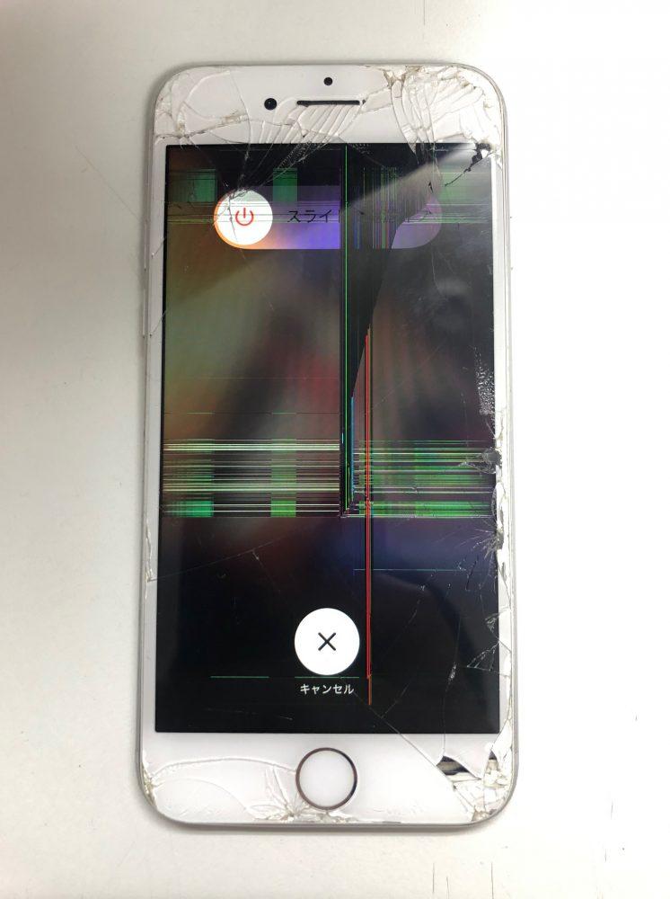 iPhone8 画面割れ 修理前