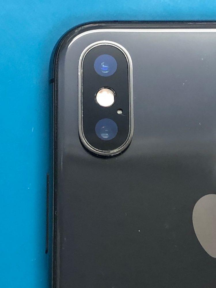 iPhoneXS カメラレンズ 割れ 修理後