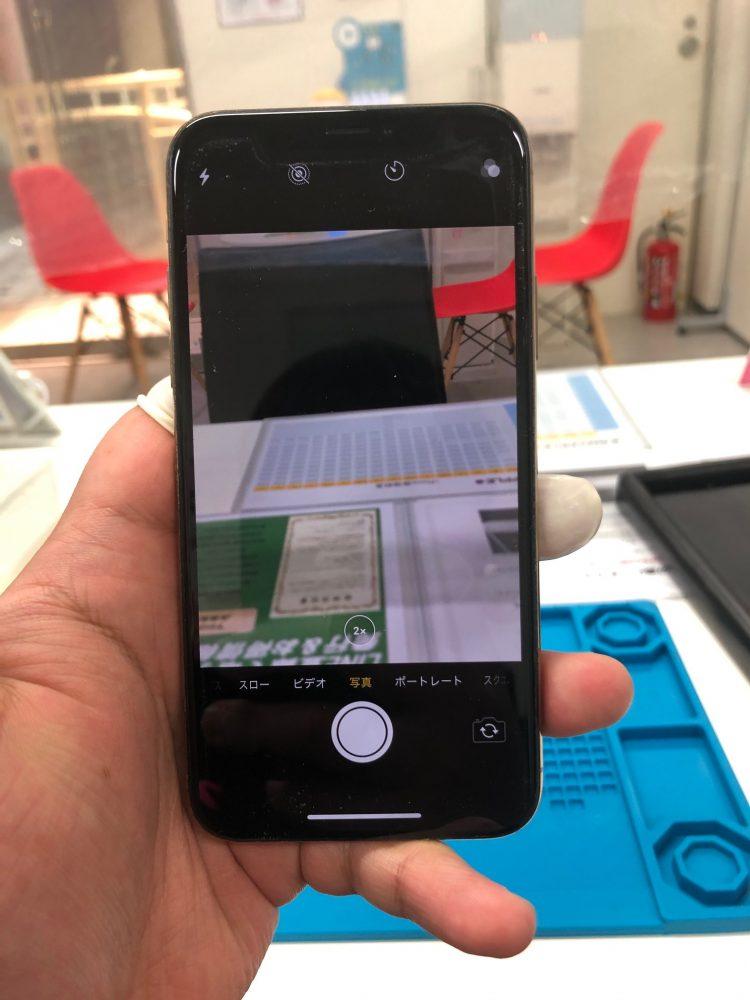 iPhoneXS バックカメラ 修理前
